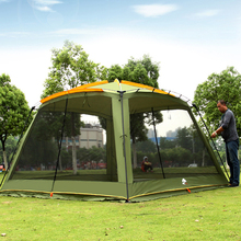 Ultralarge 365*365*220CM With Mosquito Net Camping Tent Large Gazebo Sun Shelter Beach Tent Barraca hot sale waterproof camping tent gazebo ice fishing tent awnings winter tent sun shelter beach tent one hall and one room