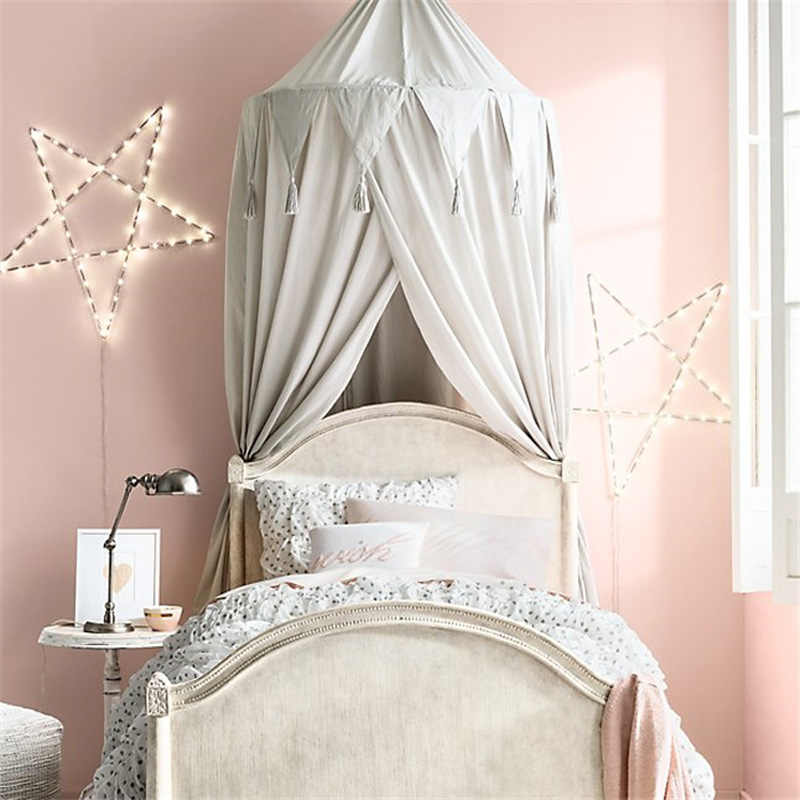 Baby Crib Tent Tassels Lace Baby Cot Bed Netting Tents Canopy