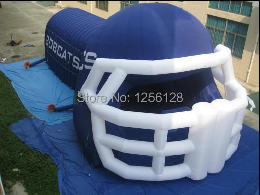 Free Air Blower! Big Blue Inflatable Helmet Tunnel free shipping 6 2m inflatable gym air track inflatable air track gymnastics