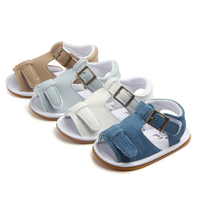 Summer Cute Newborn Baby Sandals Boy Toddler Shoes Soft Sole Comfortable Non-slip Crib Shoes