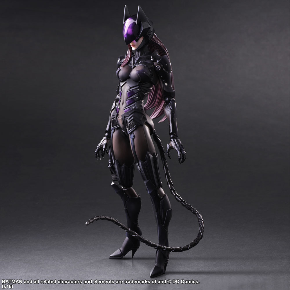 Catwoman Action Figure Playarts Kai Collection Model Anime Toy Movie Bat Man Play Arts Kai Catwoman 260mm thor action figure playarts kai anime toy movie thor collection model toy play arts kai figures 270mm