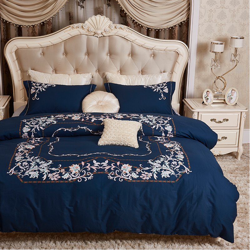 ROWBOE brand Home furnishings Queen King fashion print European and American style quilt cover sheets pillowcase cotton comfortROWBOE brand Home furnishings Queen King fashion print European and American style quilt cover sheets pillowcase cotton comfort