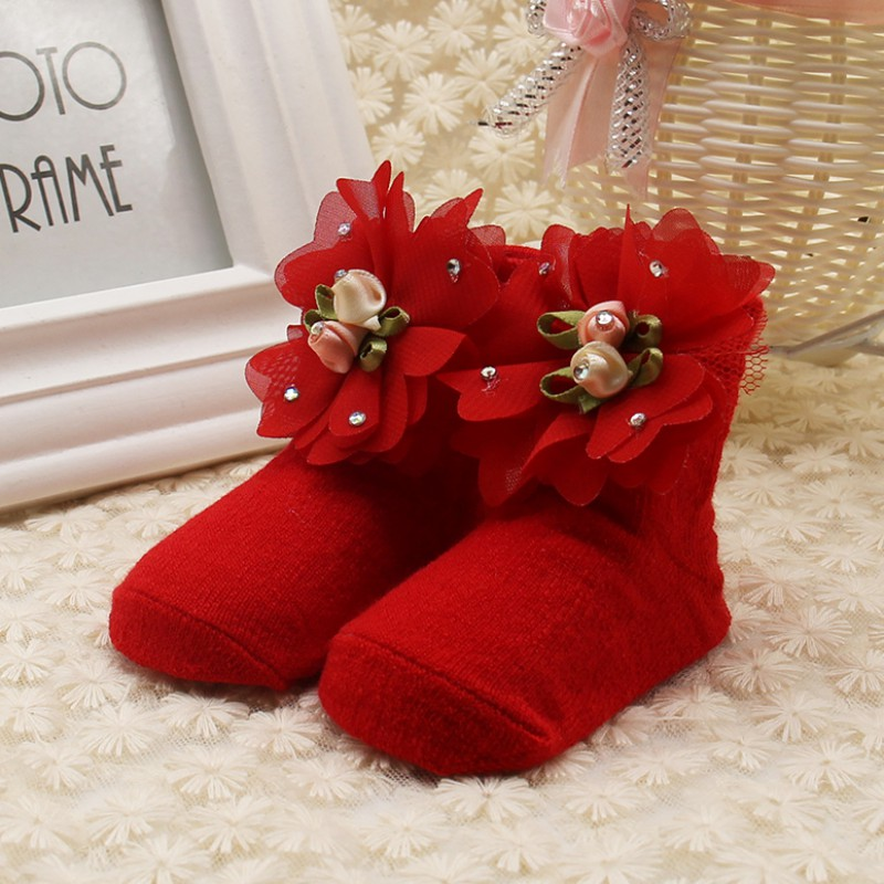 2019 New Baby Newborn Summer Socks Lace Toddler Girl Cotton Anti-slip Infant Ankle Bow Girls Cute