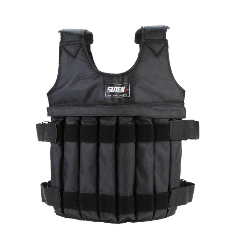 Max Loading 20kg Adjustable Weighted Vest Weight Jacket Exercise Boxing Training Waistcoat Invisible Weightloading Sand Clothing