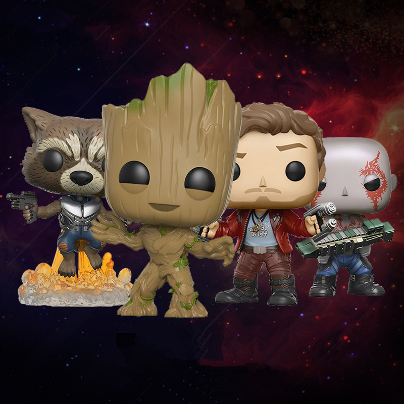Funko POP Movies Guardians of the Galaxy 2 Action Figure Star Lord Gamora Groot Rocket Raccoon Collectible Model Toys new funko pop guardians of the galaxy tree people groot