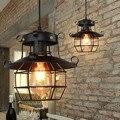 Lámpara colgante E27  lámpara colgante de techo Industrial Retro para cocina  lámpara colgante de techo  accesorios  jaula Edison  decoración moderna para el hogar|Luces colgantes| |  -