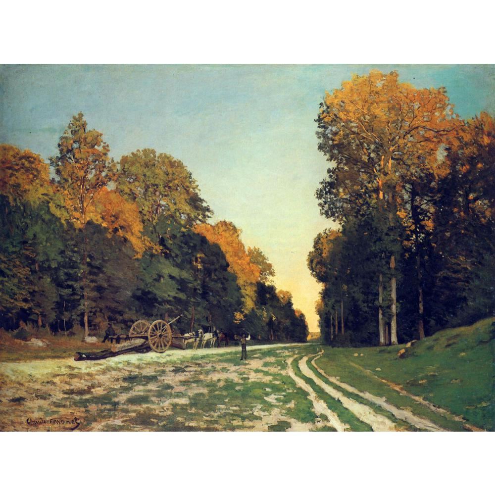 High quality Claude Monet paintings The Road from Chailly to Fontainebleau oil on canvas hand-painted Home decorHigh quality Claude Monet paintings The Road from Chailly to Fontainebleau oil on canvas hand-painted Home decor