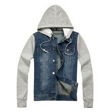 Лидер продаж! Новинка 2017 года мода прибыть осень мужская куртка джинсовая куртка с капюшоном Жан толстовка с длинными рукавами джинсовая куртка высокое качество!