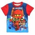Мальчики одежда ninjago рубашки для мальчика 2017 новая мода высокого качества лето топы с коротким рукавом футболка