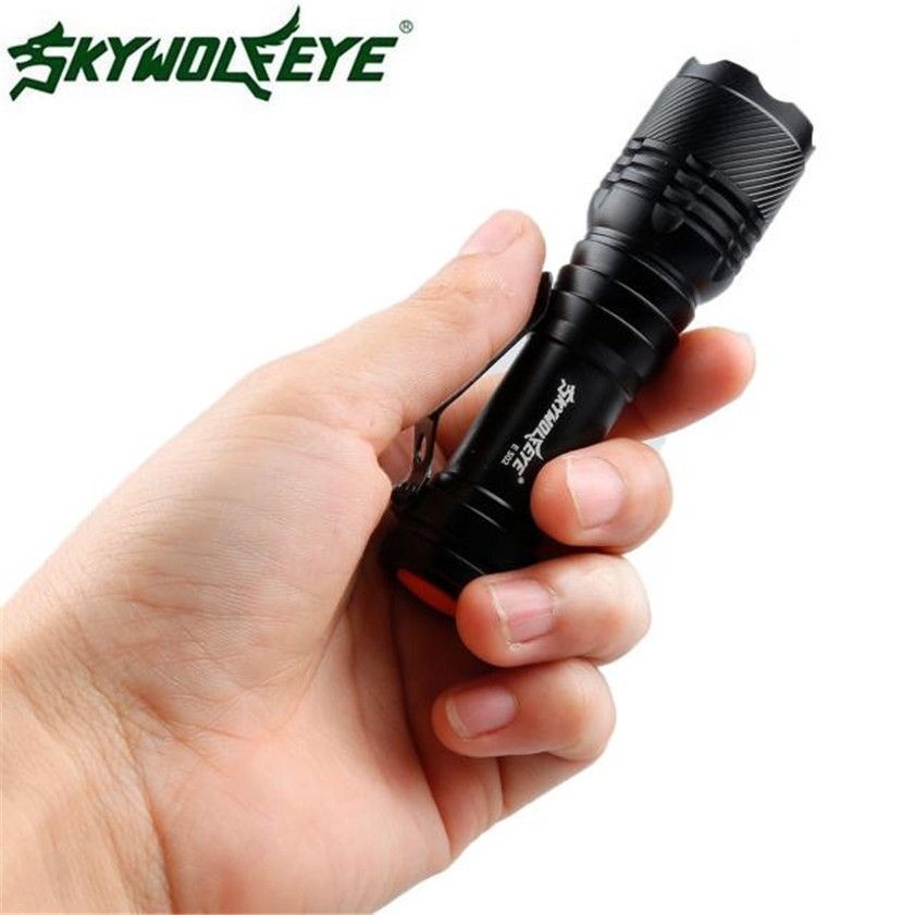 Super 2000LM CREE Q5 AA/14500 3 Modes LED Flashlight Torch Super Bright Dropshipping 0425 sipik sk68 120 lumen convex lens led flashlight w cree q3 wc grey 1 aa 1 14500