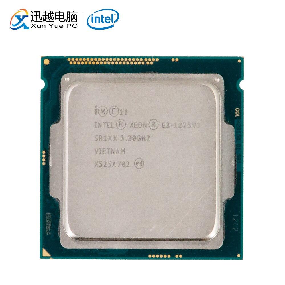 Processador para Desktop Intel Core E3-1225 V3 E3 1225 MB L3 V3 Quad-Core 3.2 GHz 8 Cache LGA 1150 servidor CPU Usado
