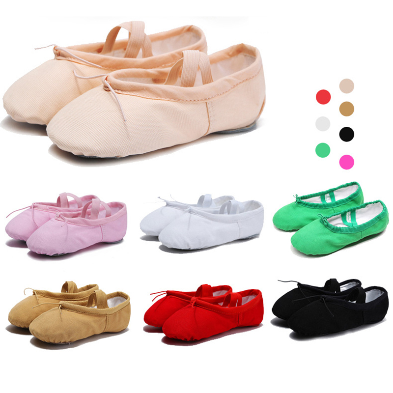 Shose For Girls Pointe Shoes Women Canvas Ballet Shoes Kids Dance Shoes Soft Ballet Flats For Dancing Ballerina Shoes