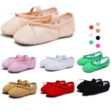 лучшая цена shose for girls pointe shoes women canvas ballet shoes kids dance shoes Soft ballet flats for dancing ballerina shoes