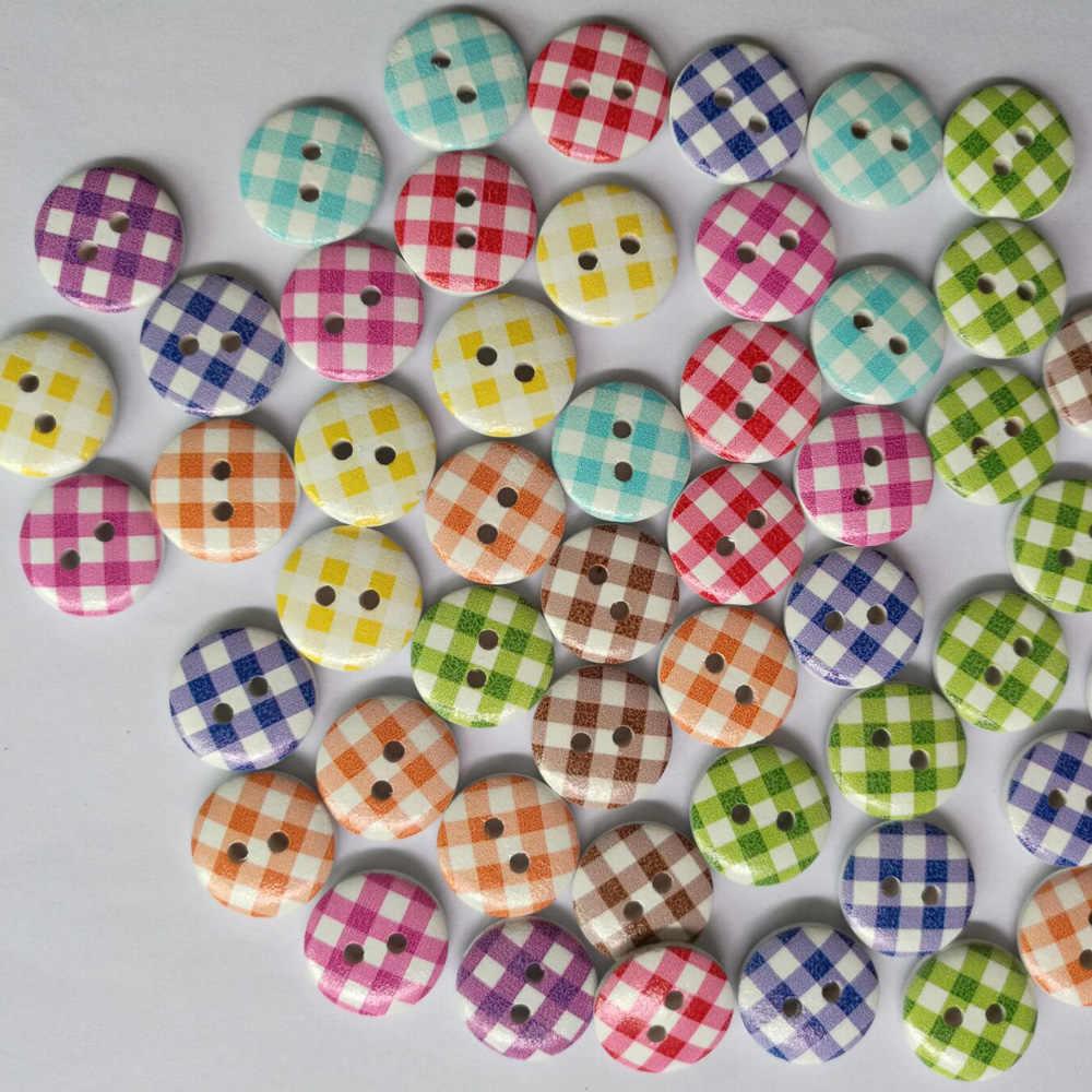 Caf/é Oscuro BESPORTBLE 50 Piezas de 2 Agujeros de Forma Ovalada Botones de Madera para Scrapbooking Costura Manualidades DIY Adornos Hechos a Mano
