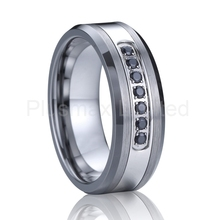 luxury black cz diamond wedding band tungsten carbide ring men super cool fashion designer jewelry anillos