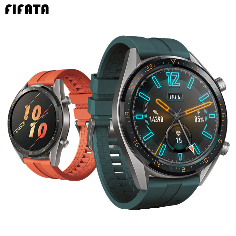 22mm Strap For Huawei Watch GT Silicone Watch Band For Honor Watch Magic For Xiaomi Amazfit Stratos Pace For Samsung Galaxy 46mm