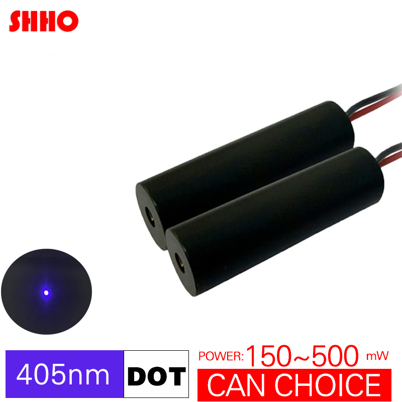 Alta calidad 405nm azul violeta púrpura punto módulo láser colimador óptico 150 mw a 500 mw seleccionable 3D posicionamiento de impresión lámpara