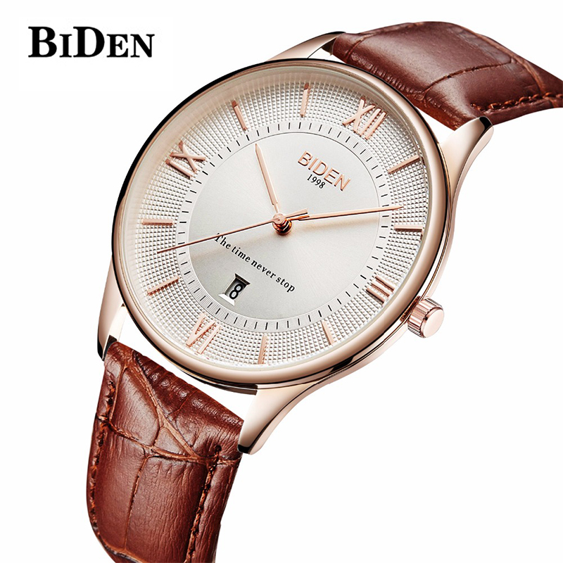 Men New Fashion Relogio Masculino BIDEN Ultra-thin Mens Watches Top Brand Luxury