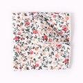 2017 Moda Pañuelo de Los Hombres de La Vendimia Patrón Floral Pañuelos De Algodón Hombres Trajes de Los Hombres de Bolsillo Accesorios Cuadrados de Bolsillo