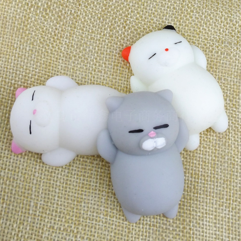 3pcs/lot Cute Squeeze Squishy Scented Cream Cartoon Slow Rising Stretch Toy Phone Chain Strap Kids Gift