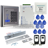BRAND NEW Rfid Door Access Control System Kit Set + Drop Bolt Door Lock +Rfid Keypad + Power + 2 Remote controller Free Shipping