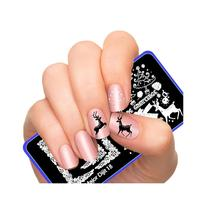 Nail Art Image Manicure Stamping Plates Nail Art Stamp Festival Christmas Collection 10pcs