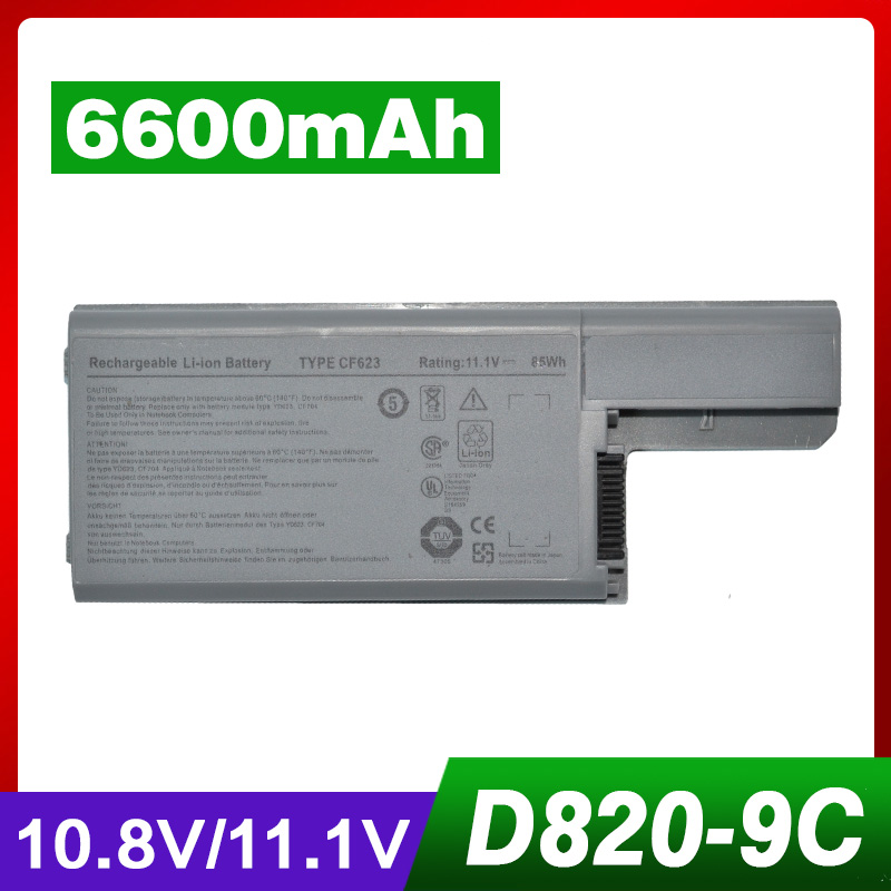 Power Source Cameron Sino 6600mah Battery For Dell Latitude D531 D820 Precision M65 Dell 312-0393 451-10309 Cf711 Df249 F192