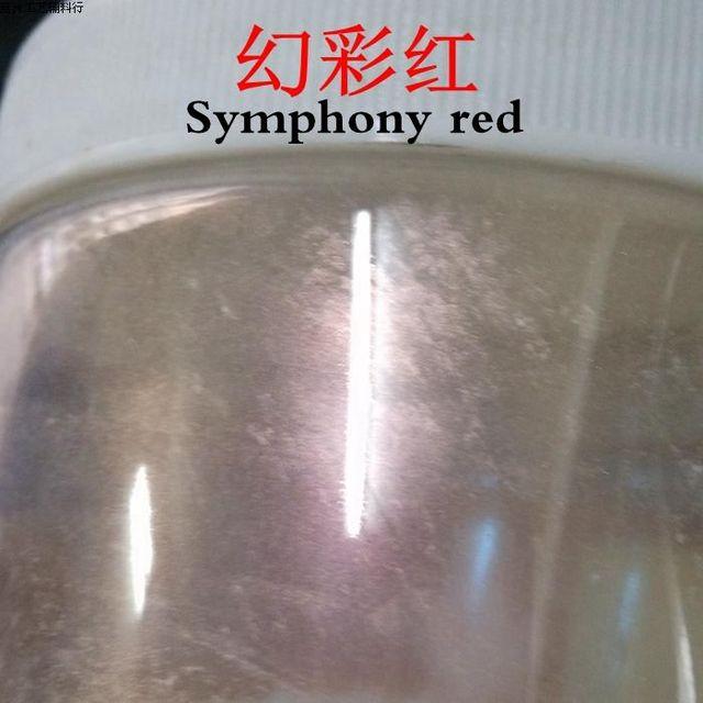 500 g/lote serie Sinfonía ROJO esmalte de Uñas en polvo natural ...