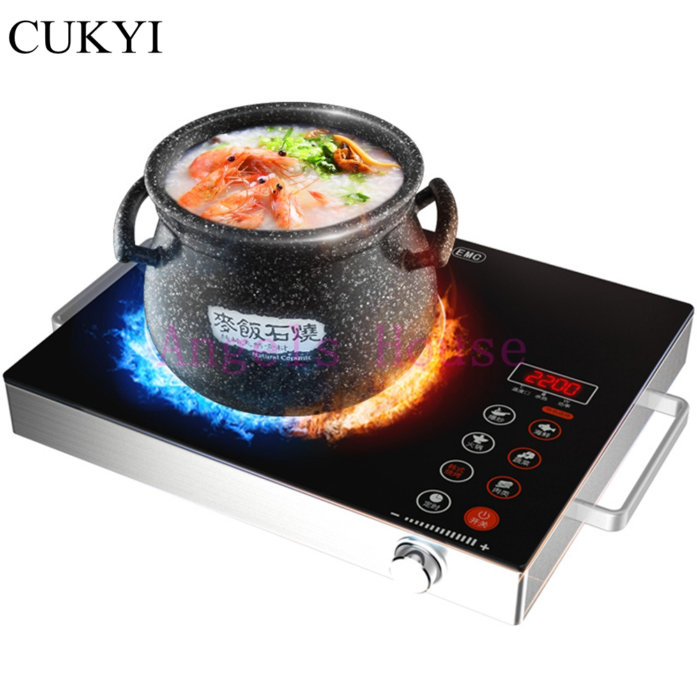 CUKYI Induction Cooker household oven Desktop Hot pot genuine electric ceramic stove stove cooker   special offer dmwd electric induction cooker waterproof high power button magnetic induction cooker intelligent hot pot stove 110v 220v eu us