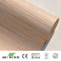 2019 MY WIND Bright Grasscloth Wallpapers 3D Paper Weave Design Wallpaper In Roll Luxury Natural Material papier wandbekleding