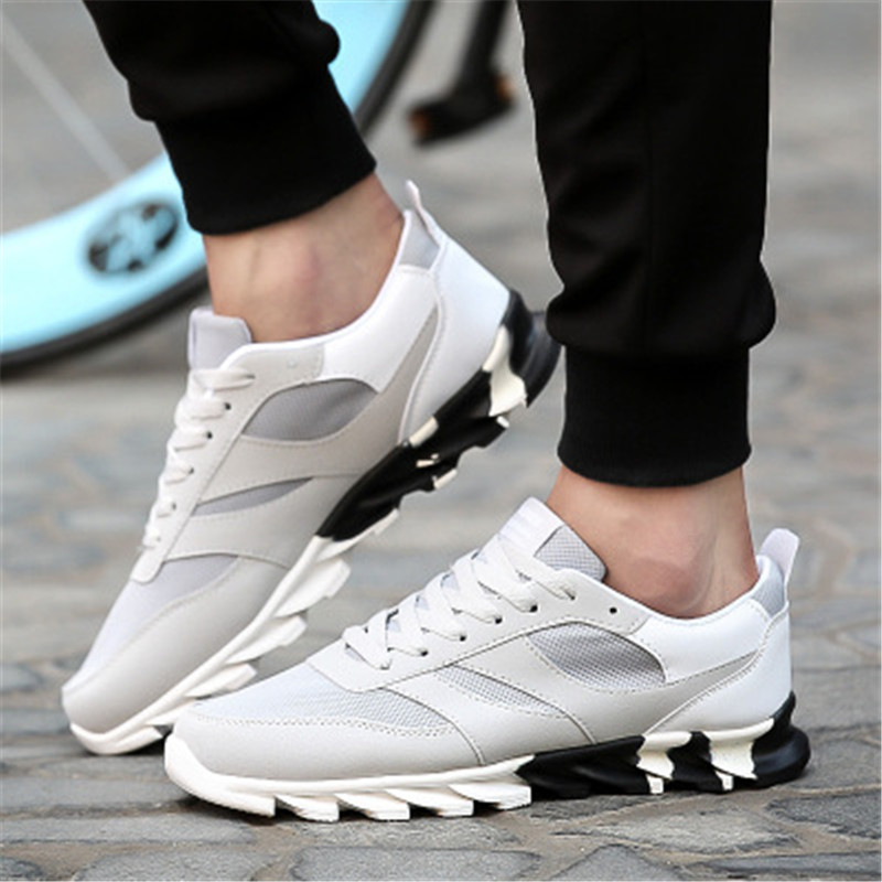 43591aeab639 Detail Feedback Questions about Men s sneakers real trend super air cushion  2018 high quality lace brand adult sports shoes black blue PU upper outdoor  ...
