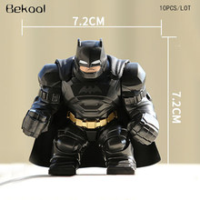 NEW 10pcs/lot Marvel Big Armored Batman hulk Big Size 7cm Action FIG COMPATIBLE Building Blocks Sets Model Toy(China)