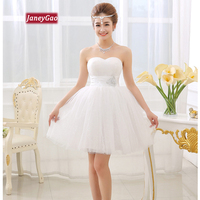 JaneyGao Short Homecoming Dresses Elegant White Prom Dress For Women Evening Party Formal Wear2019 New Fashion Sleeveless Sexy