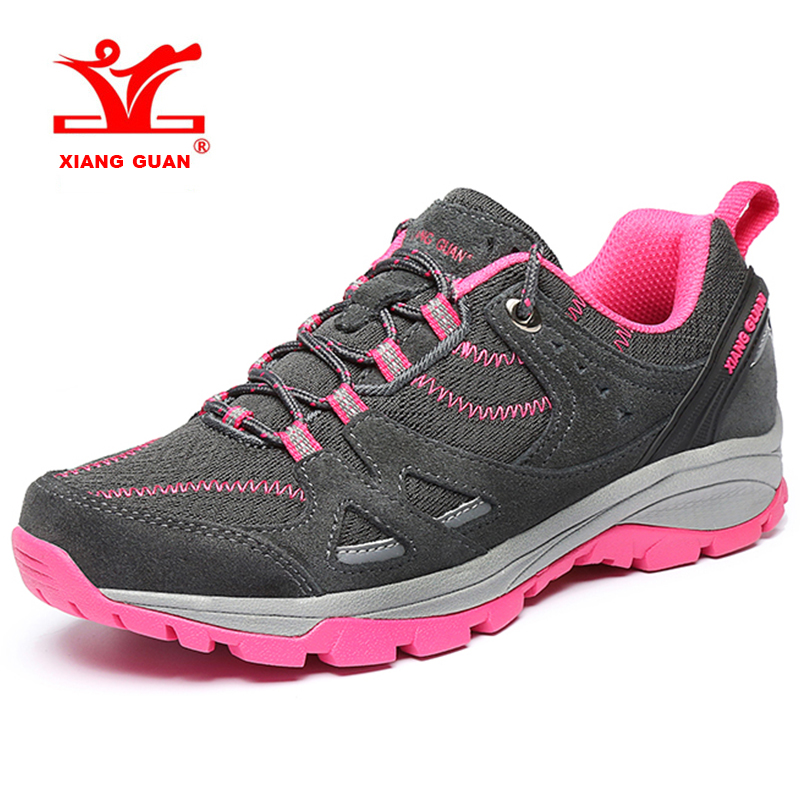 2018 XIANG GUAN Womens Hiking Shoes Breathable Mesh Outdoor Climbing Sports Shoes Travel Shoes For Women Free Shipping 92008 2018 merrto womens breathable walking sports shoes light weight outdoor camping shoes travel shoes free shipping mt18651