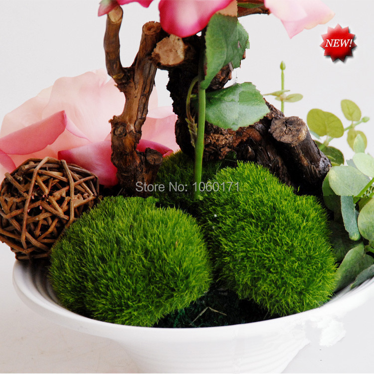 Garden Decoration Artificial Green Moss Stone Home Ornaments Delectable Stone Ball Garden Decoration