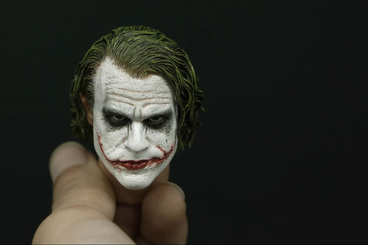 1/6 scale figure Accessory Batman joker headsculpt Heath Ledger head shape for 12 Action figure doll ,Not included body,clothes 1 6 scale figure accessory batman wayne headsculpt bale head shape for 12 action figure doll not included body and clothes