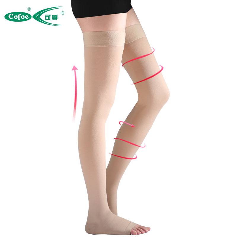 Cofoe A Pair Medical Varicose Veins Socks 23-32mmHg Pressure Level 2 mid-calf length Socks Varicose Veins Sock compression Socks ombre circle calf length socks