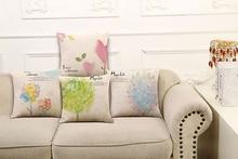 High Grade Pillow Covers Elegant Home Textile Series Design Fashion Style45X45CM Linen Pillow CoverHome Decorative cushion case