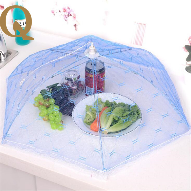 2017 new anti mosquito lace round table cover folding food fruit fly proof food breathable cover umbrella cover net cover