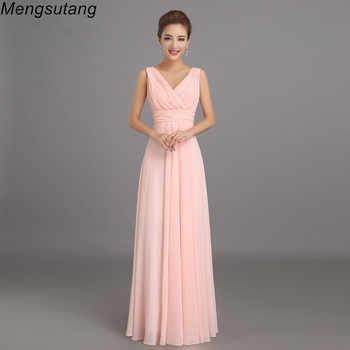 Robe de soiree 2019 Peachy Pink Bridesmaid Dress Long Chiffon Party Prom Dresses Vestido De Festa De Casamento Dama De Honra - DISCOUNT ITEM  18% OFF All Category