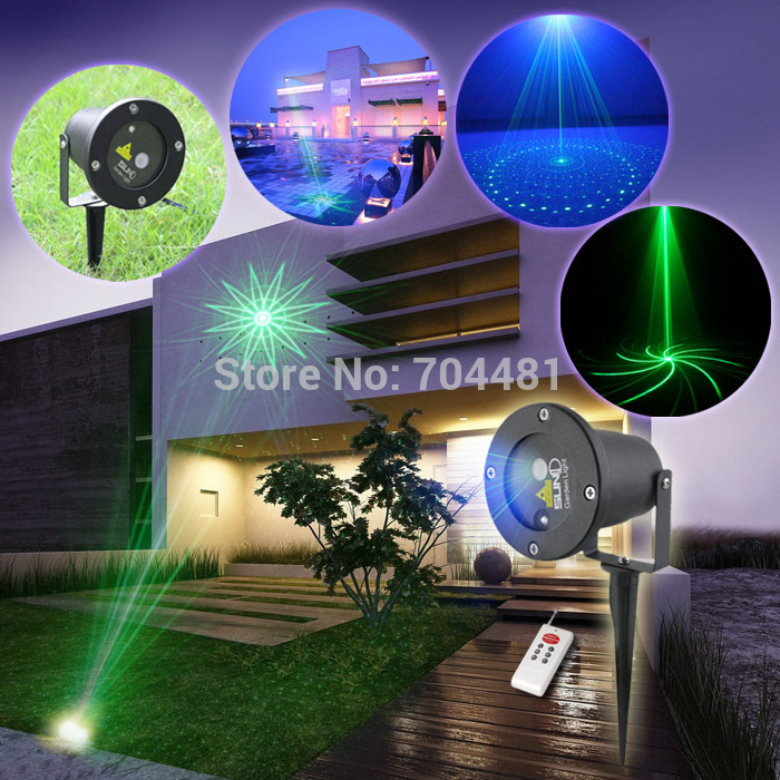 Christmas Lights You Control With Your Phone: SUNY Outdoor Indoor Green Laser Light BLUE LED Garden