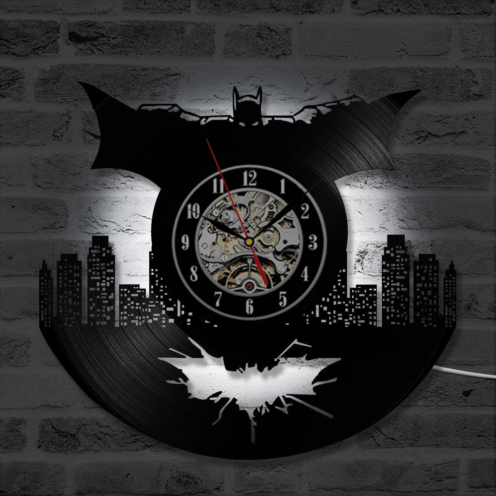 84857991a86 Melhor Registro de vinil Batman Para Casa Acessórios de Decoração Relógios  de Parede Design Moderno Relógio de Parede Silencioso Relógios Nova Chegada  ...
