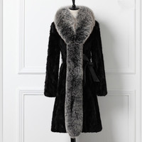 100% Real Natural Mink Fur Coats Jackets Women Genuine Fox Fur Outerwear For Women Plus Size 5XL Furs Coats