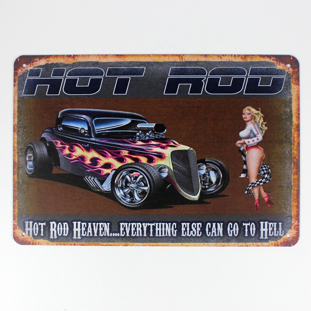 30x20cm Hot Rod Retro Home Decor Tin Sign For Wall Metal Vintage Art Poster
