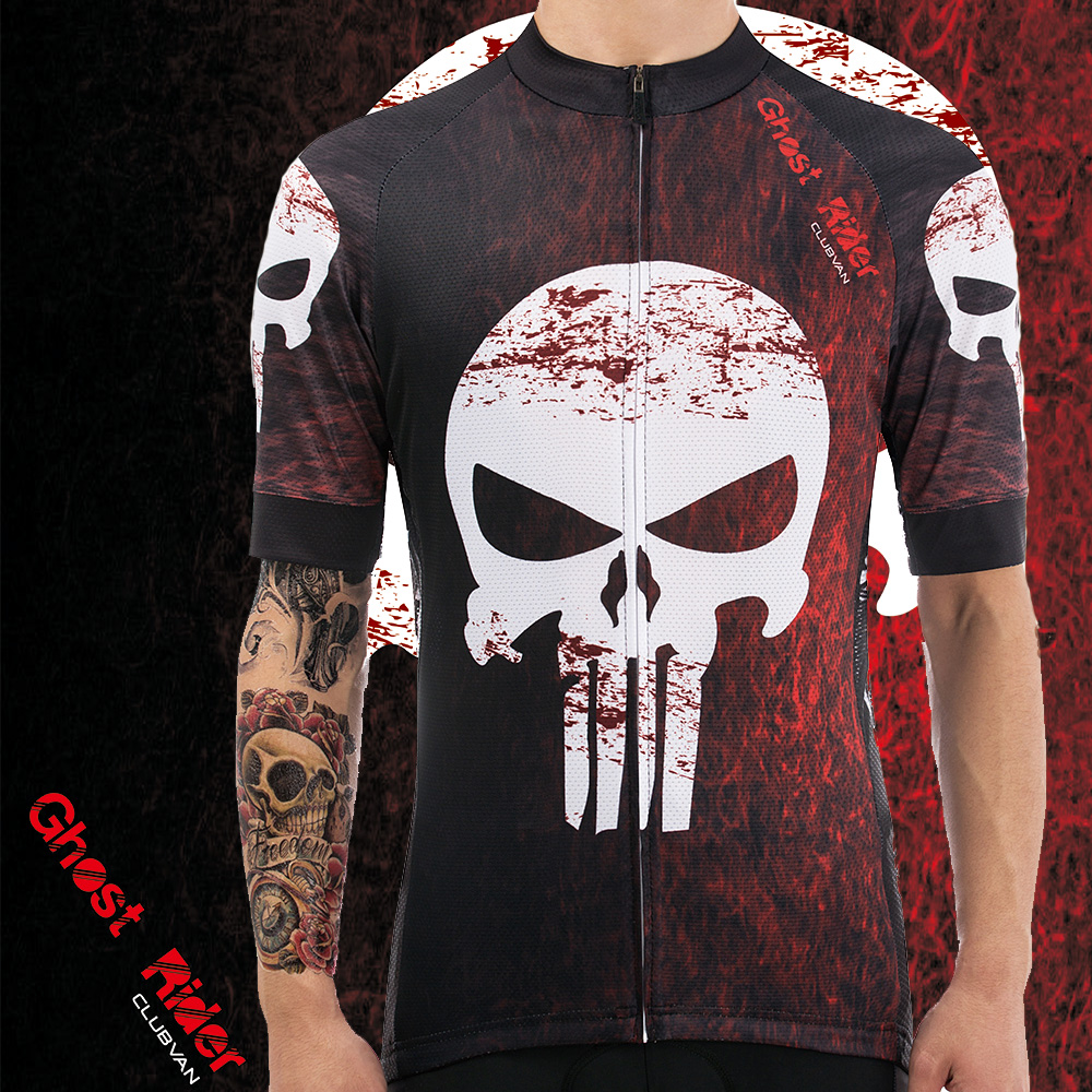 7e058dc4d clubvan 2018 Cycling Jersey Mtb Bicycle Clothing Bike Wear Clothes Short  Maillot Roupa Ropa De Ciclismo Hombre ghost rider  A28