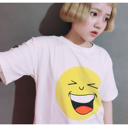 2016 summer new women t shirt fashion korean the font b smiley b font face printing.jpg 250x250
