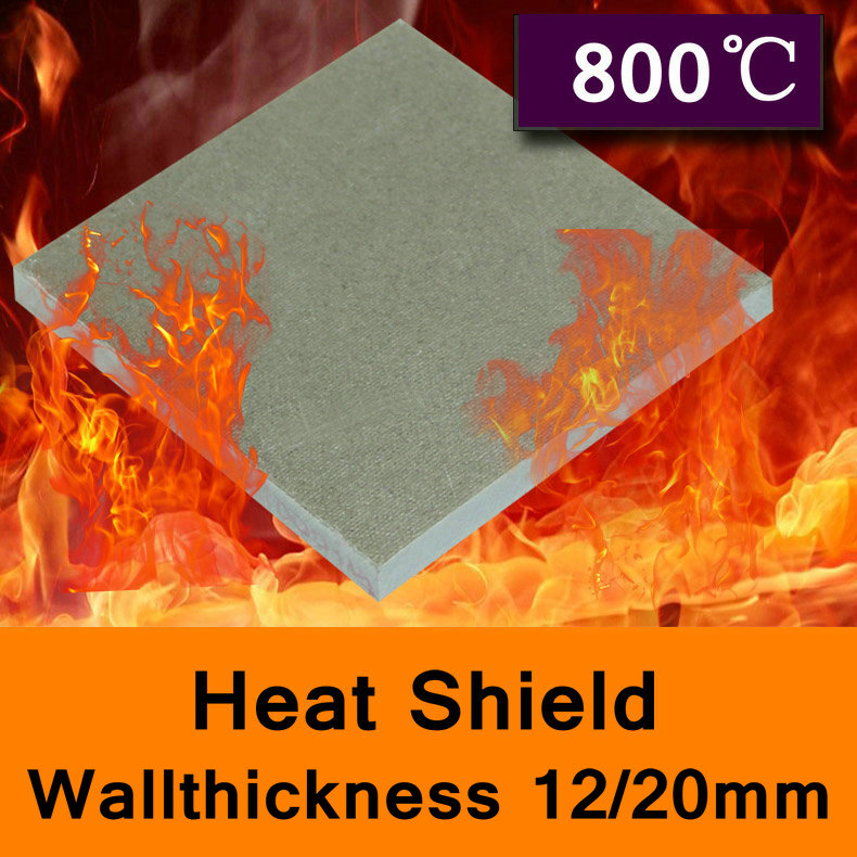 800 Degree Centigrade Mold Mould Heat Shield Glass Fibre Sheet High-temperature Plate Insulating Base Board Thickness 12mm 20mm