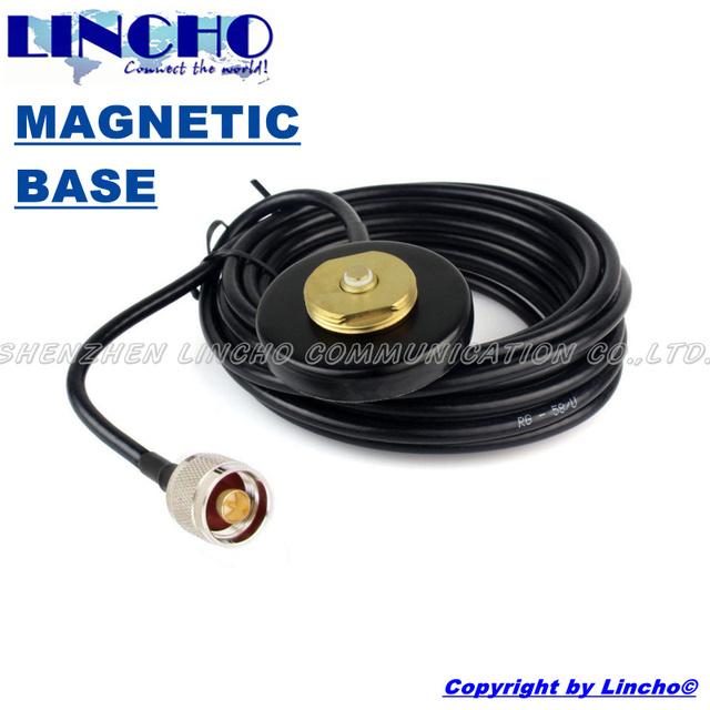 3 metros RG58U antena N macho coche mini pequeño NMO conector base magnética soporte