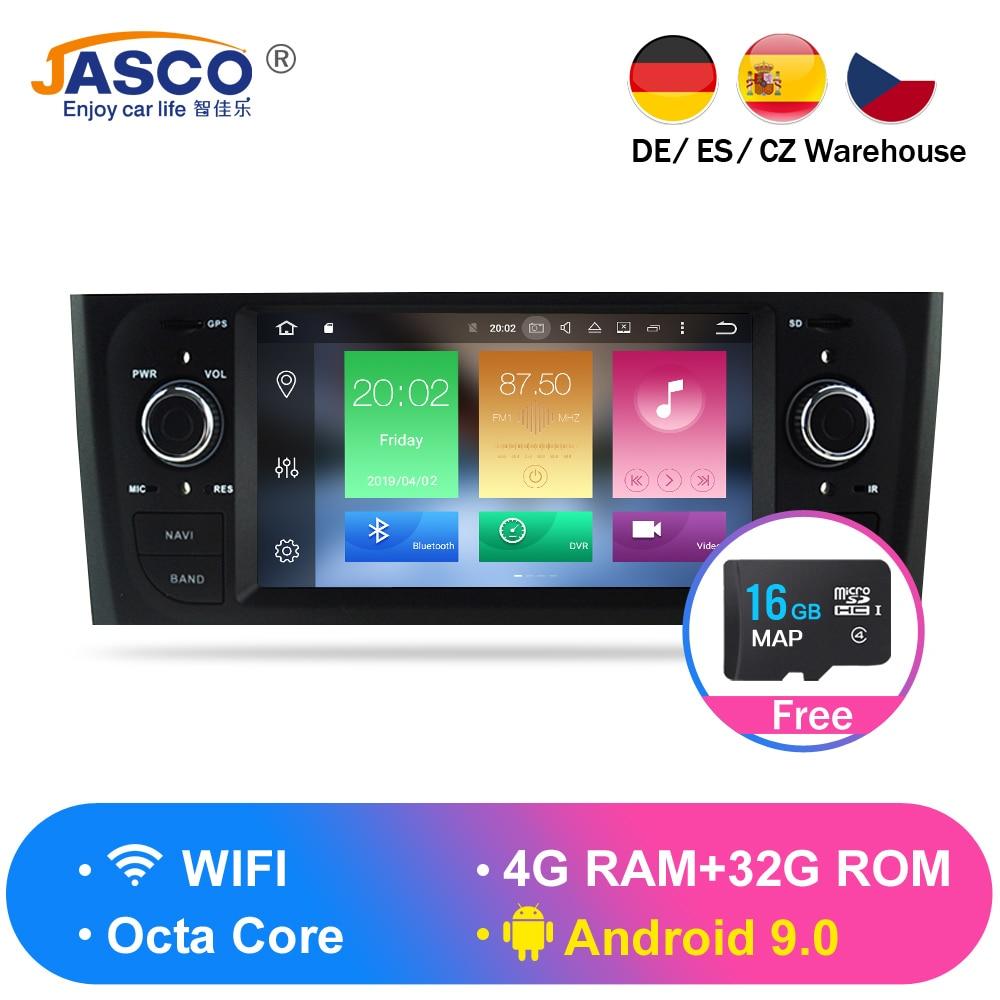 Android 9.0 4G RAM Stereo Car DVD Unidade Central Para Fiat Grande Punto Linea 2007 2008 2009 2010 2011 2012 navegação GPS Auto rádio