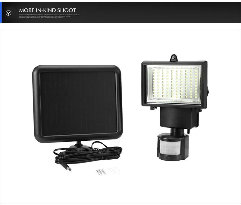 1000mah Solar Panel Cell Outdoor Emergency solar power with Sensor Security Garden PIR Motion Sensor light